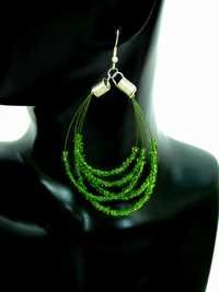 Green Beads Ear Rings