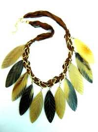 Garnet Leaf Necklace