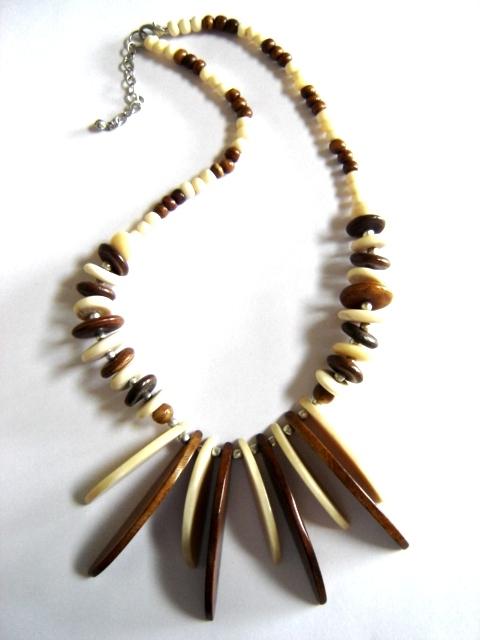 Bone Beaded Necklace