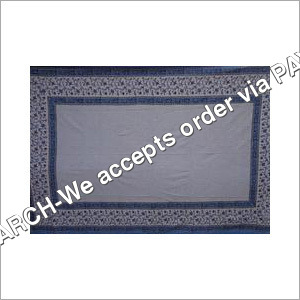 Designer BLUE Double Bed Sheet