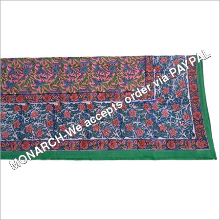 MULTI COLOR BLOCK PRINTED SINGLE BED SHEET