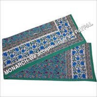 BLUE FLOWER BLOCK PRINTED SINGLE BED SHEET