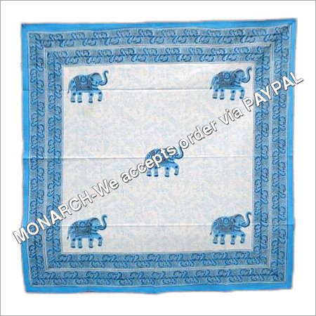 ELEPHANT Printed Square Tablecloth