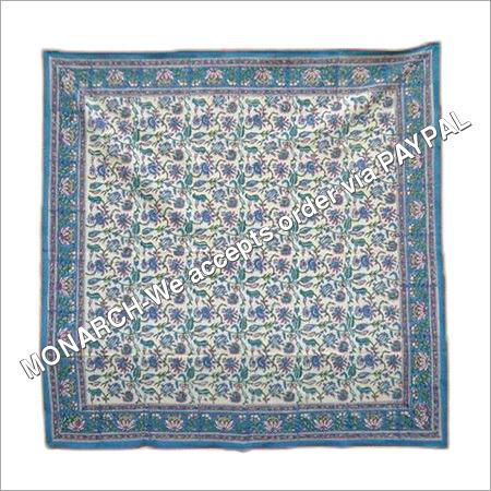 MUGHAL SQUARE BLUE TABLE CLOTH