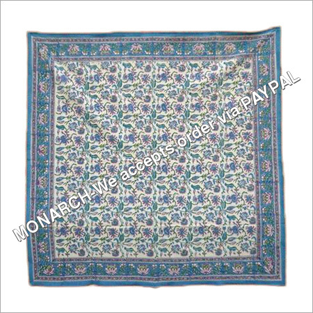 MUGHAL SQUARE BLUE TABLE CLOTH
