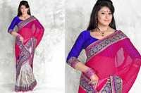 Chiffon And Art Silk Saree Blouse