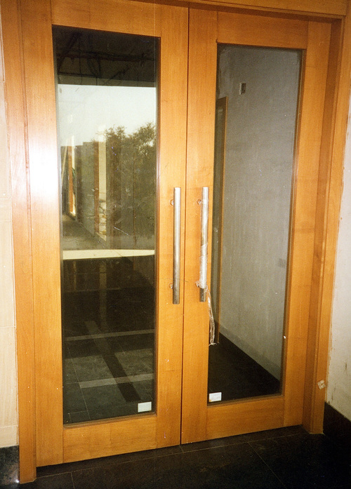 Glazed Wooden Fire Doors
