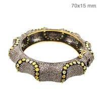 Gold Diamond Bangle Jewelry