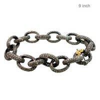 Gold Pave Diamond Bracelet