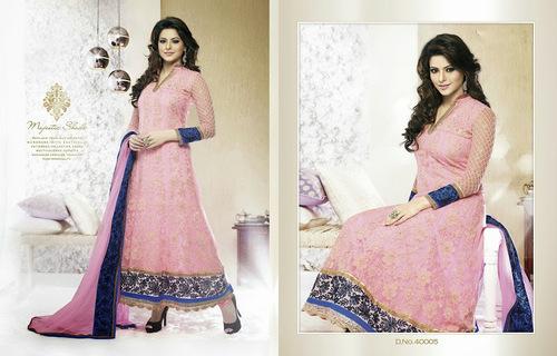 Designer Pink Anarkali Suit