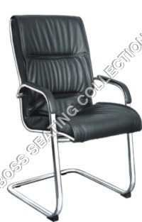 Black Leather Visitors Chairs