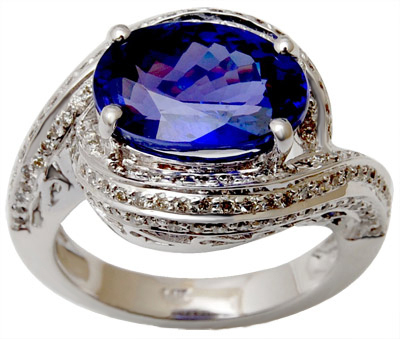 White Gold Diamond Ring For Gents