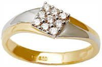 Multi Oval Shape Diamond Stone Gold Ring