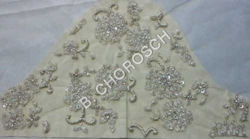 Embroidered Bridal Wear Fabric