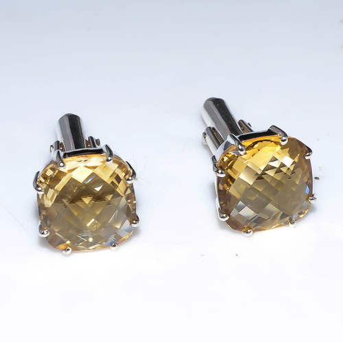 Sterling Golden Cufflink