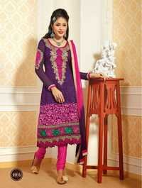 Pink & Purple Combination Salwar Suit