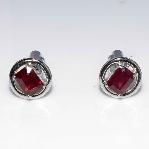 925 sterling Silver Ruby Gemstone Cufflinks