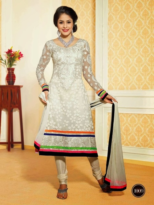 Off White Indian Salwar Suit