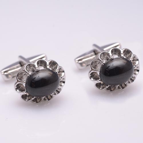 925 Sterling silver Black Star Gemstone Designer Cufflinks