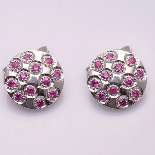 925 sterling silver Ruby Gemstone Men's Cufflinks