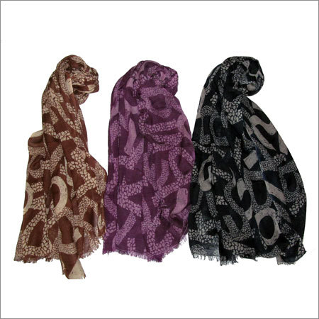SILK WOOL SCARF