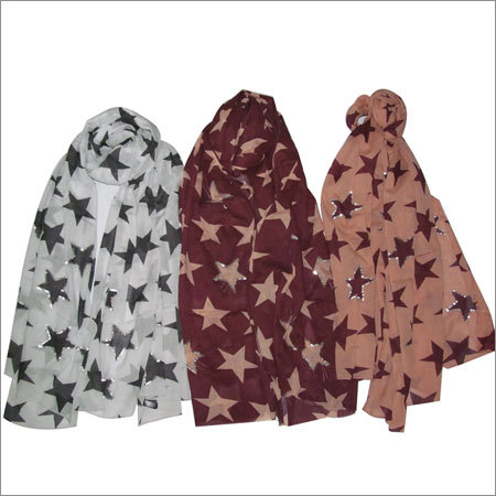 Sequin Silk Scarves