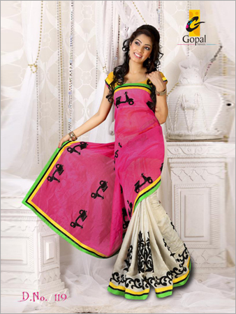 New Style Embroidered Saree