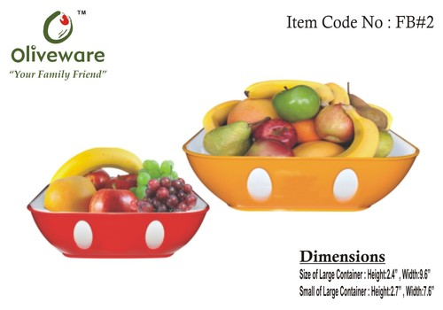 Fruit bowls set of two
