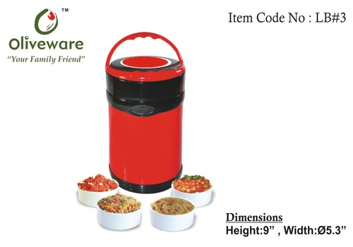 Lunch box with four containers