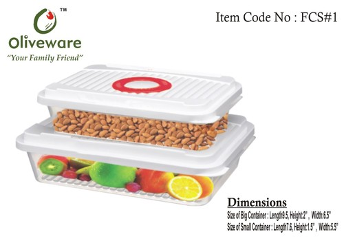Set of 2 Food Storage Containers