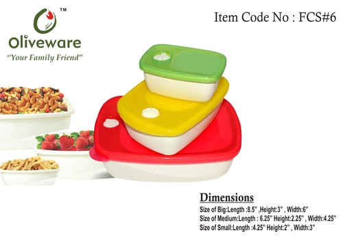 Food Storage Containers (Set of 3)