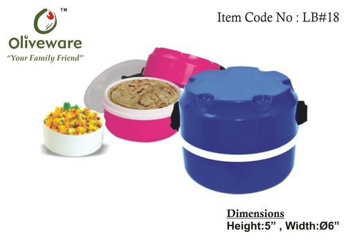 Lunch box with two compartments