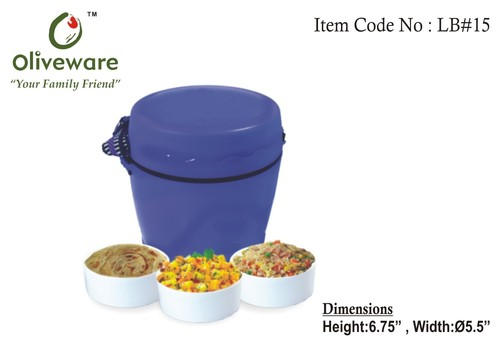 Lunch box with two containers