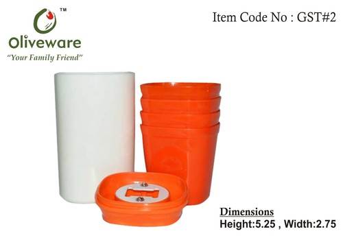 Picnic Glass Set, with bottle opener