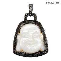 Pave Diamond Onyx Gold Pendant