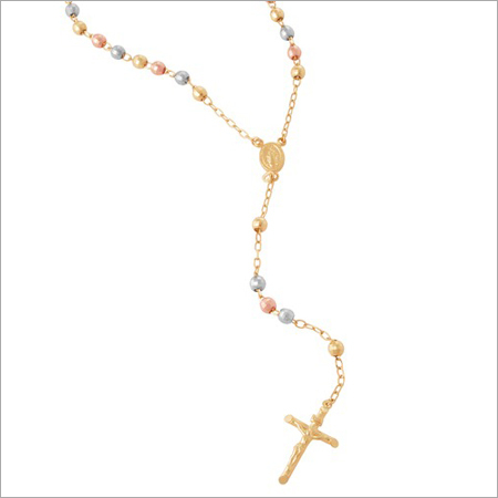 Tri Color Rosary Necklace