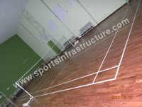 Badminton Court Indian Teak Wooden Flooring