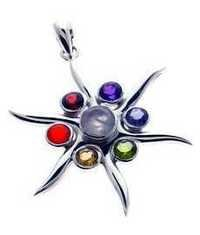 Chakra 925 Sterling Silver Pendant