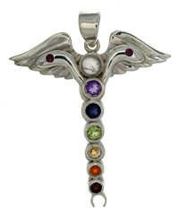 Angel Wing Chakra Natural Stone Pendant
