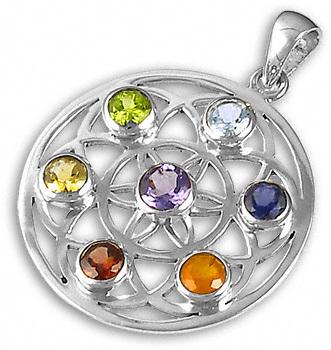 Chakra Balance Gemstone Pendant