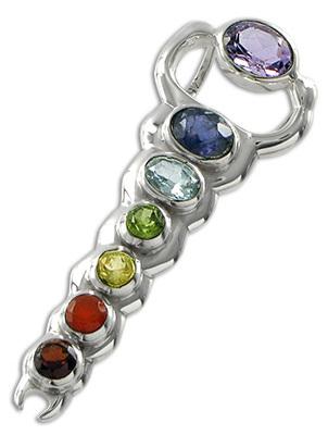 Chakra Infinity Pendant