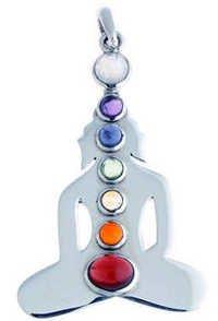 Chakra Silver Buddha Pendant