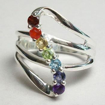 Chakra Natural Stone Ring