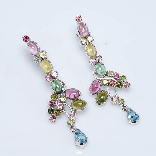 925 Sterling Silver Tourmaline Gemstone Earring