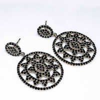 925 Sterling Silver Black Spinel Gemstone Earring