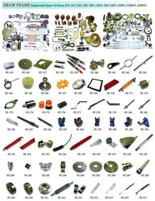 Drawframe Spare Parts