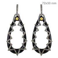 Diamond Black Onyx Gold Earrings