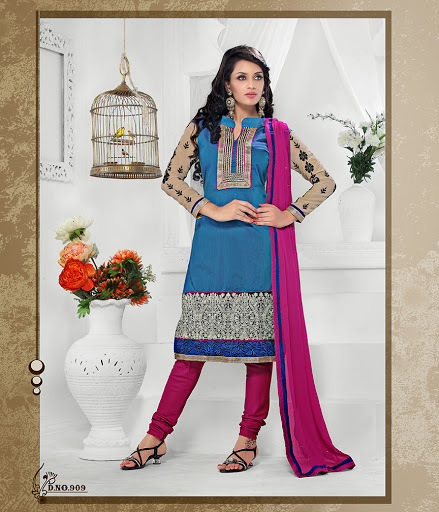Chanderi cotton Designer suits