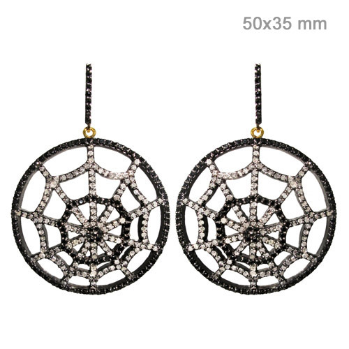 Diamond Pave Gold Earrings Jewelry