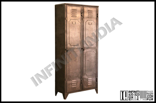 Vintage Industrial Two Door Almirah